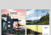 CABINS BOOK illustrations by CRUSCHIFORM, a French creative studio founded by Marie-Laure Cruschi.
