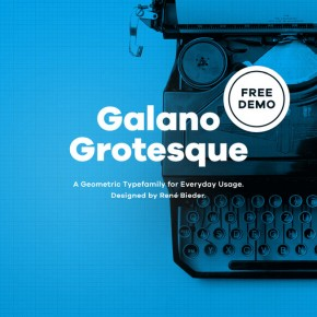 Galano Grotesque Type Family from René Bieder