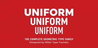 Uniform, a multi-width geometric type family by Richard Miller.