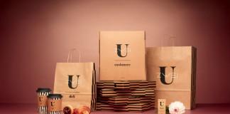 Uzwei - Packaging design in brown colors.