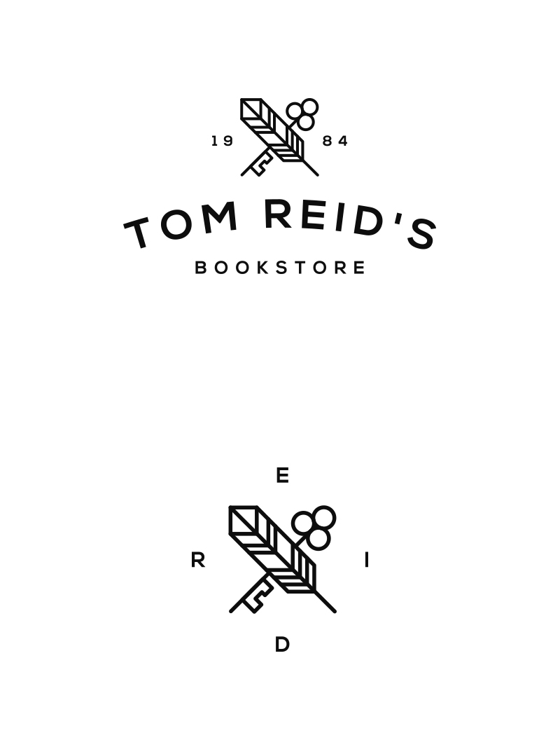Bookstore logo design by Sebastian Bednarek.