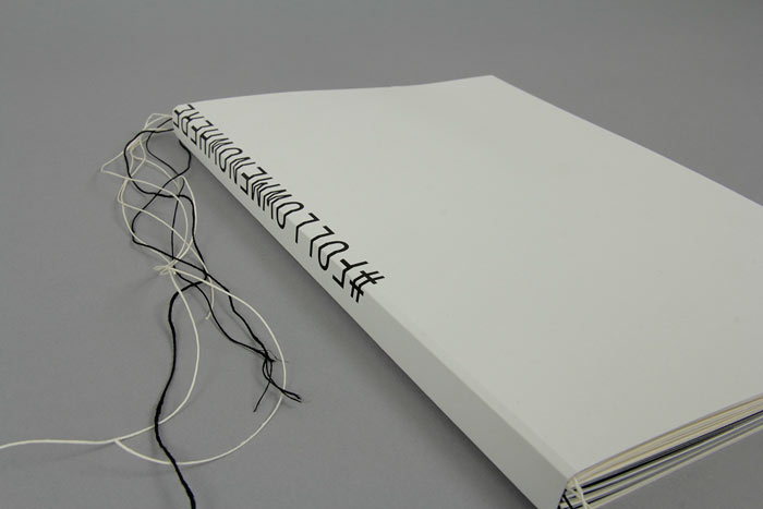 Major project report with handmade binding.