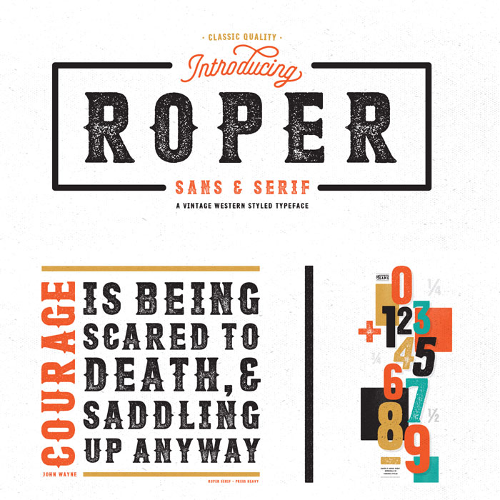 Roper – Western Styled Font Family