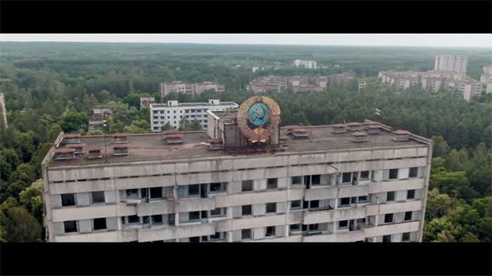 Old abandoned buildings from Soviet era.