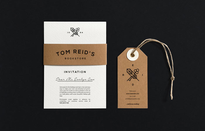 Personal invitation and hang tag.