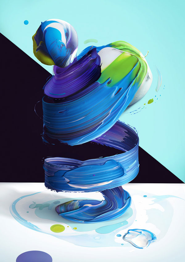 A colorful digital artwork by Pawel Nolbert.