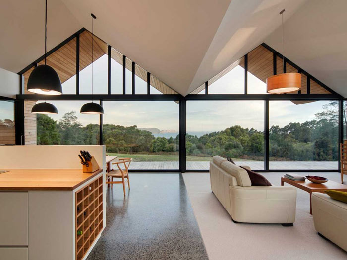 The lookout house in port arthur tasmania by room11 Clean modern interior design