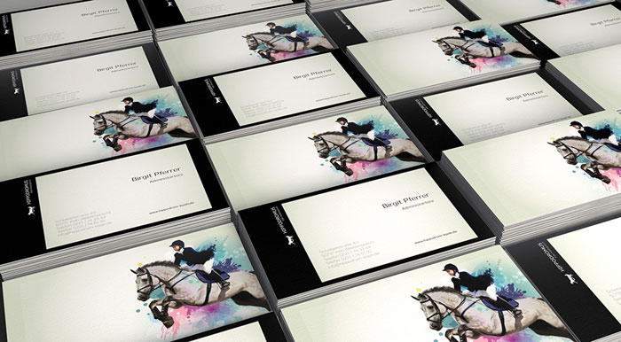 New visual identity design and printed matters for Hippodromus, an old German horse track.