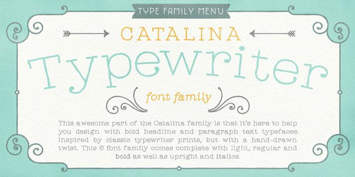The Typewriter font family.