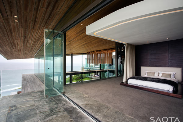Master bedroom with breathtaking views.