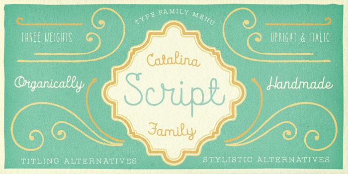 The handwritten script family.