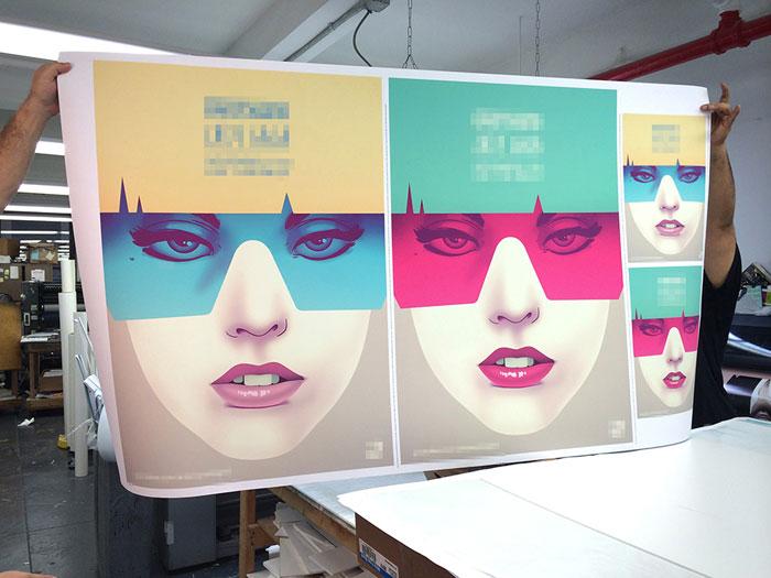 Fresh printed posters.