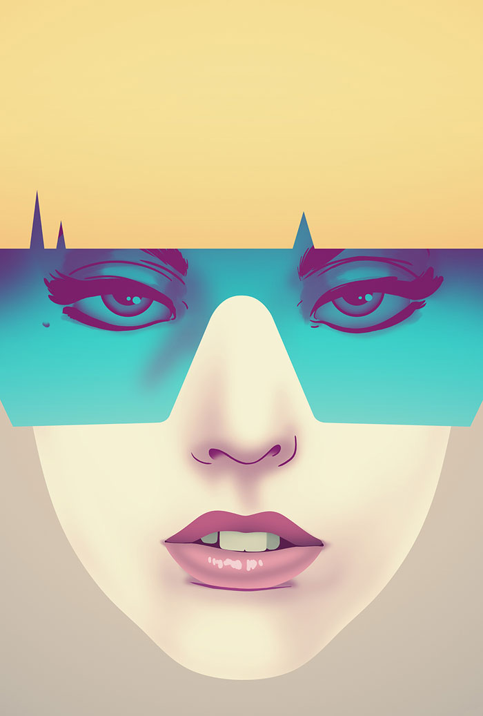 Lady Gaga poster by Nook - Blond version of the print.