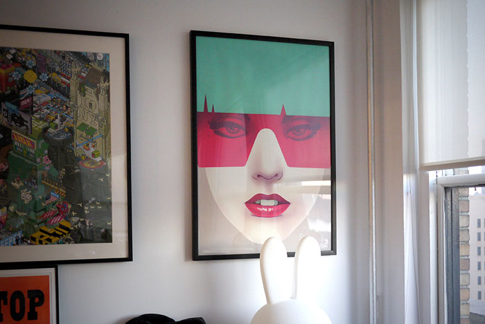 Lady Gaga poster artwork by Nook, a Brooklyn, New York City based art director, graphic designer, and illustrator.