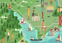 Monocle 78 - Oslo feature - Editorial illustrations by MUTI.