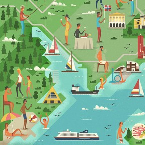 Monocle 78 - Oslo Feature - Editorial Illustrations by MUTI