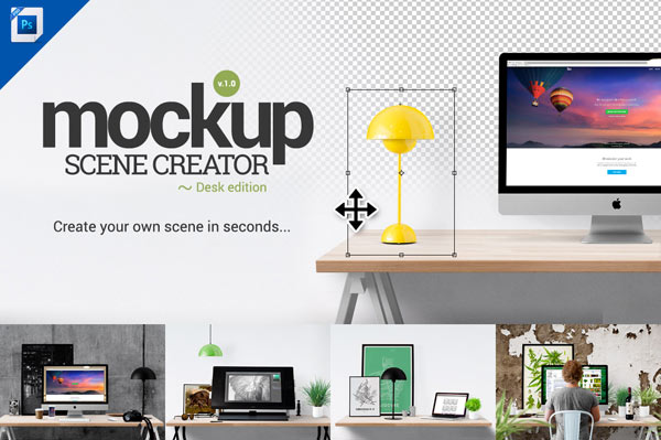 The Mockup Scene Creator For Adobe Photoshop Lets You Create Your Own Scenes In Seconds