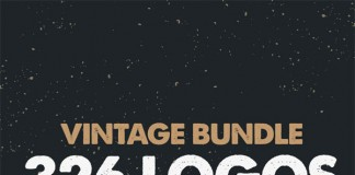 Vintage Bundle - 326 logos, labels, and badges.