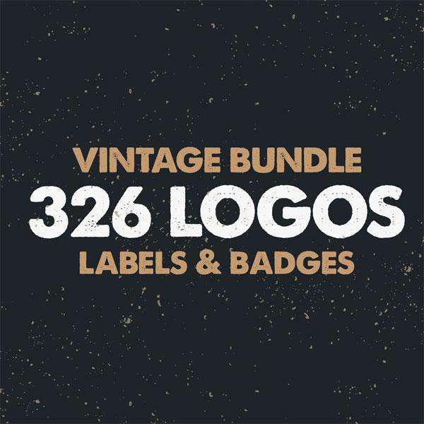 Vintage Bundle - 326 logos, labels, and badges.