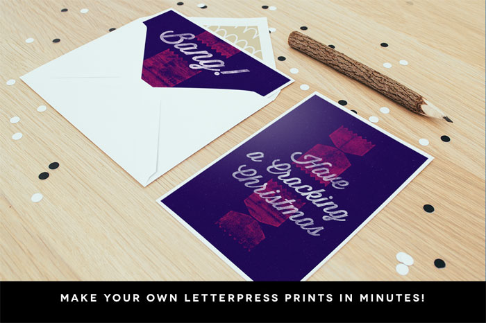 You can create your own letterpress prints easily and in minutes.
