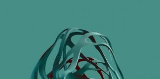 Abstract digital shapes.
