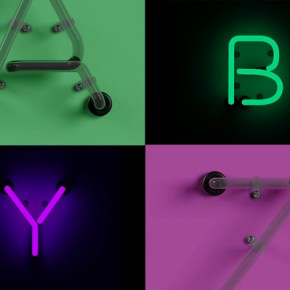 Neon Type - Photoshop Template