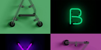 An Adobe Photoshop file that includes realistic neon light letters.