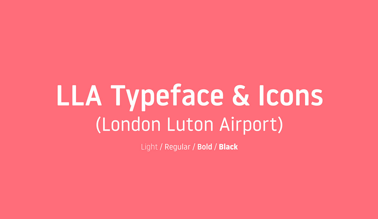 London Luton Airport Typeface and Icons