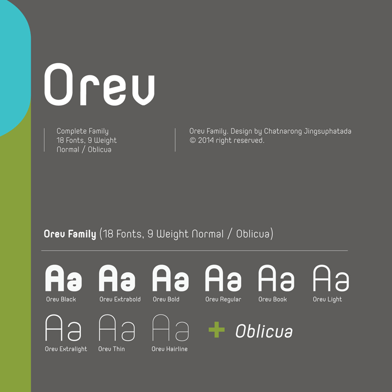 Orev Font Family from Typesketchbook