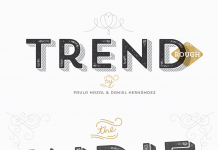 Trend Rough, a font made of layers with a worn look by Paula Nazal Selaive and Daniel Hernández.