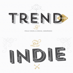 Trend Rough - Layered Display Font