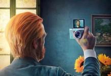 Van Gogh - SAMSUNG campaign: For self-portraits. Not selfies.