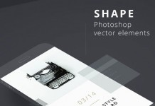 All graphics and clean icons are created with Adobe Photoshop vector elements.