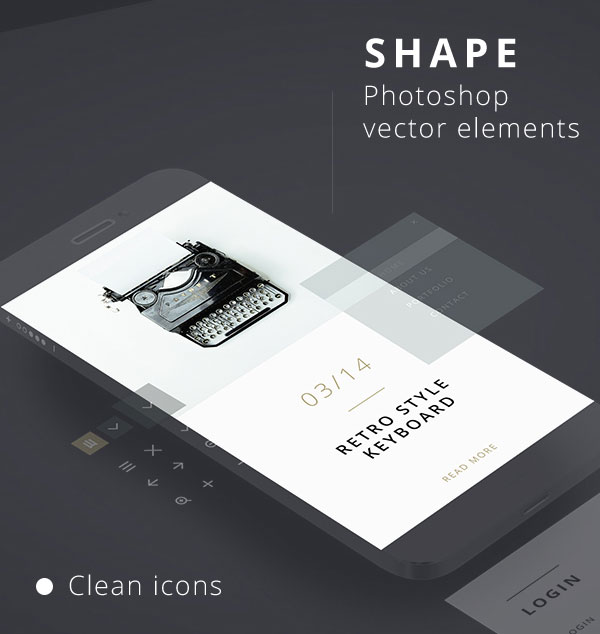 Adobe Photoshop UI Kit for Free Download