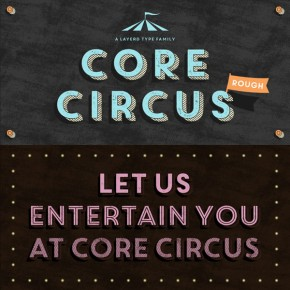 Core Circus Rough - Textured Layered Font Family