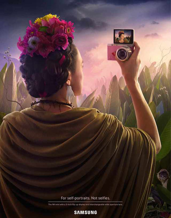 Frida Kahlo - Creative SAMSUNG campaign by Leo Burnett Switzerland.