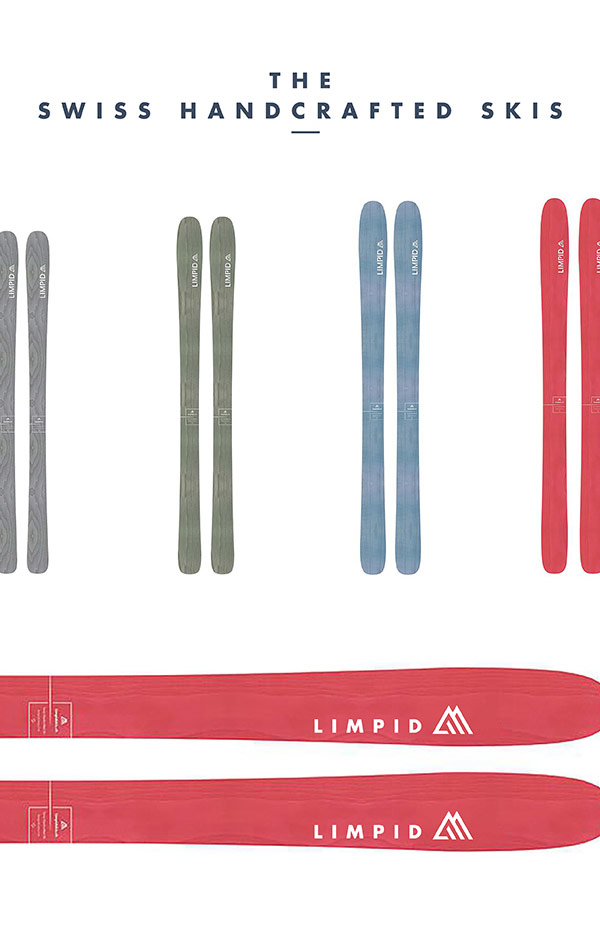 Swiss handcrafted skis - simple and clean design.