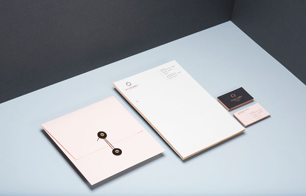 Printed collateral and stationery design by studio Bratus for Danh Hien Jewelers.