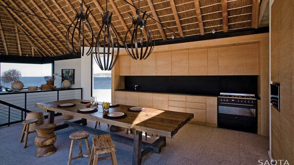 Unique and modern kitchen design.