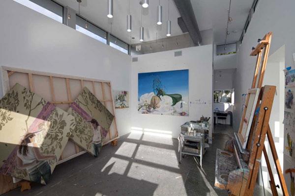 The art studio inside the house.