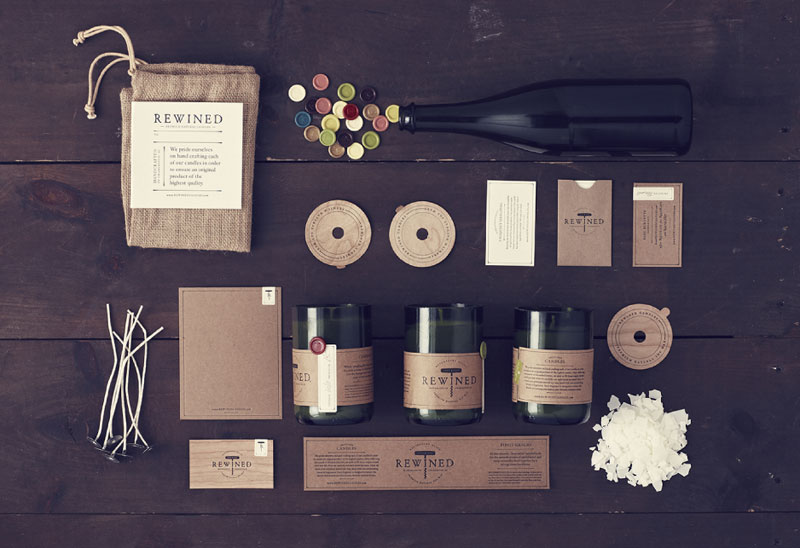 Rewined Candles – Branding by Stitch Design Co.