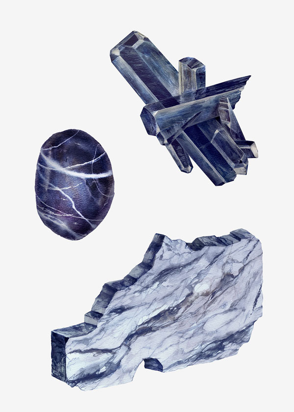 Stone structures and forms illustrated by Karina Eibatova.