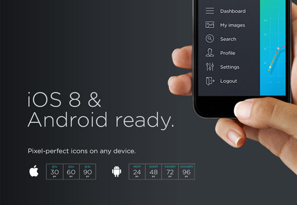 The picons are iOS 8 and Android ready.