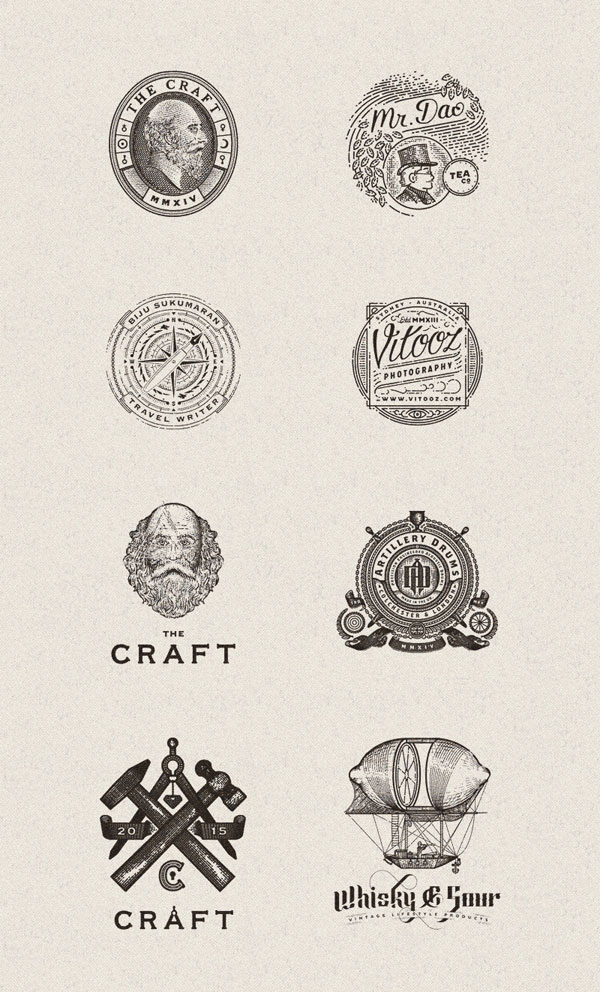Vintage inspired graphics and illustrations.