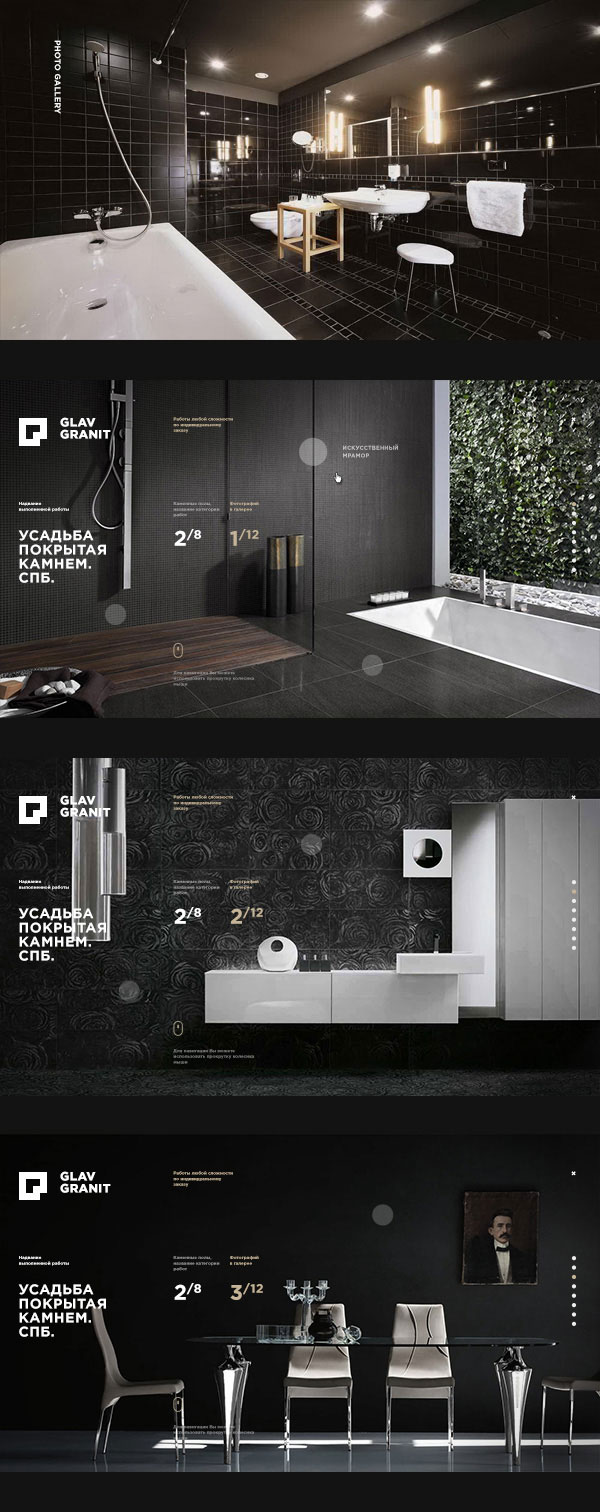Web design by designer Alexander Laguta.