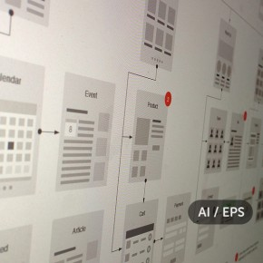 Website Flowcharts and Site Maps - AI & EPS