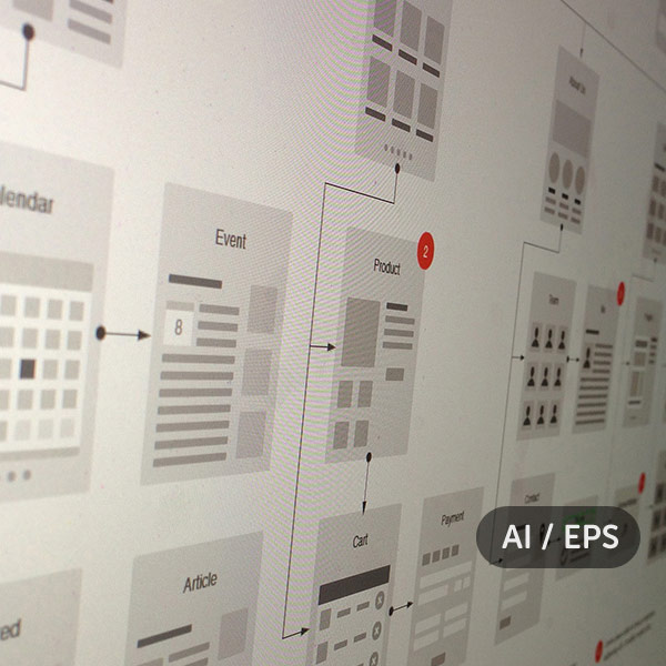 Website flowcharts and site maps - AI and EPS