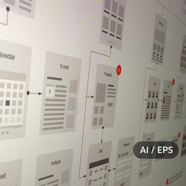 Website Flowcharts and Site Maps – AI & EPS