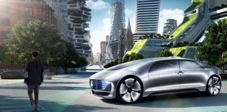 Mercedes Benz F 015, a futuristic self-driving car concept.