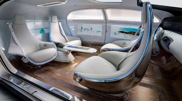 Modern, comfortable, and intuitive design inside the car.
